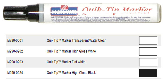 Mohawk Quik Tip Touch Up Marker, Mplin/Maple Linen traditional-housekeeping