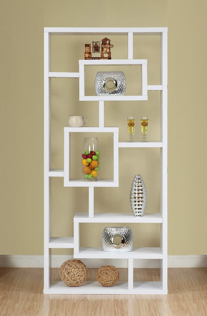 Enitial Lab Mateo Open Back Bookcase, White - Modern - Bookcases - by Amazon