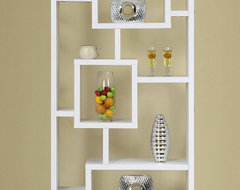 Bradshaw Unique Bookcase / Display Cabinet in White modern bookcases cabinets and computer armoires