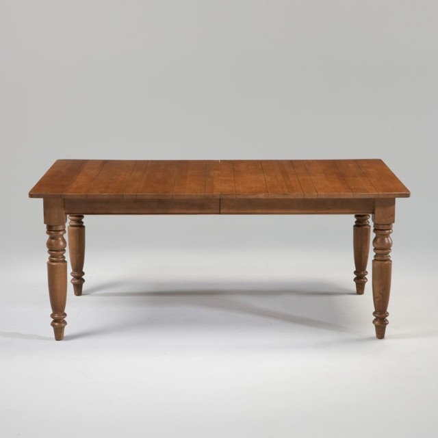 New country by ethan allen milller farmhouse table for Traditional dining table for 8