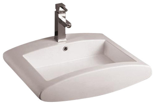"Whitehaus Whkn4019 16 1/2""Above Mount Basin contemporary-bathroom-sinks"