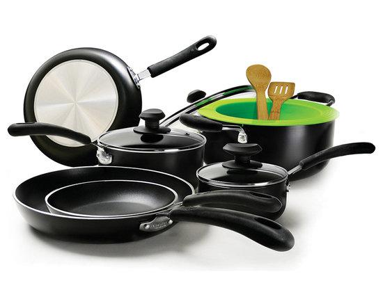 EPOCA - Heavy Weight 12pc Set - Black - Ecolution Heavy Weight 12-Piece Cookware Set in Black