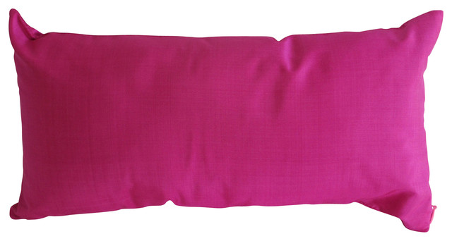 Pink Small Silk Pillow contemporary-decorative-pillows