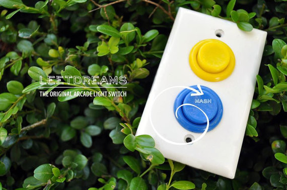 Working Arcade Light Switch by Aleph Design eclectic switchplates