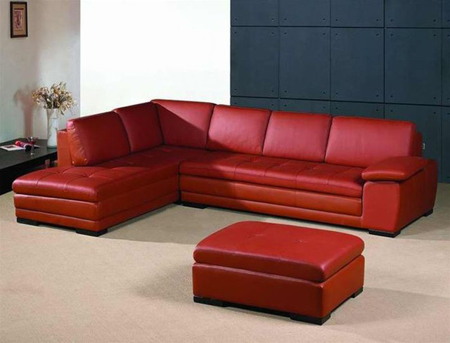 Luxurious leather corner sectional sofa contemporary for Leather sectional sofa miami