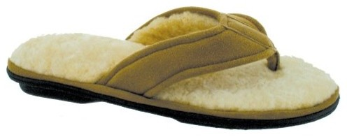 Smartdogs Womens Collins Thong Slippers in Camel contemporary cleaning supplies