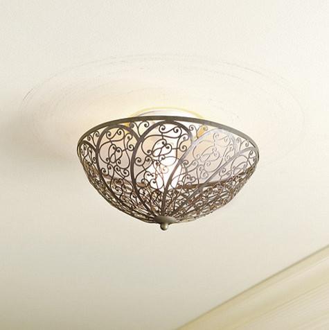 Clip On L Shades For Ceiling Light Vintage Plastic L