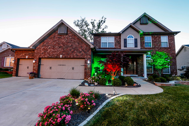 LED Home Exterior Path And Accent Lighting Traditional Exterior St Loui