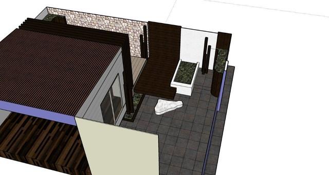 Rear Landscape Concept 3D contemporary-rendering