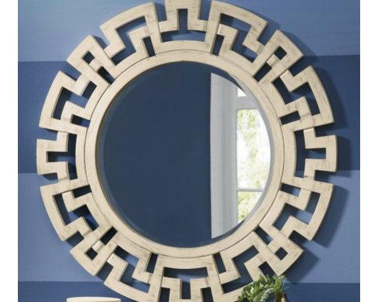 Greek Key Mirror -