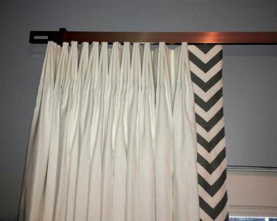 Drapery Ideas - Fan pleated drapery panels on a traverse rod.