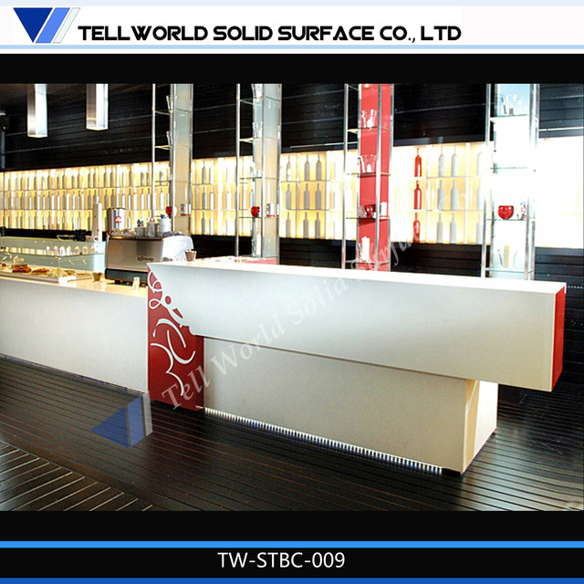 White and red banquet bar counters buffet bar table design modern indoor pub and bistro - Contemporary bar counter design ...