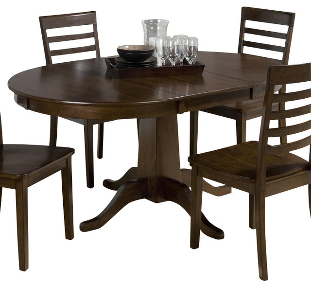 Jofran 342 60 Taylor Cherry Round To Oval Pedestal Dining