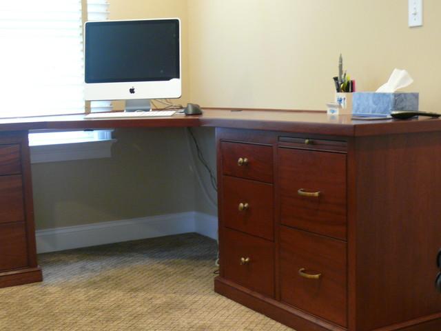 Library, Bookshelfs, Desks traditional-home-office