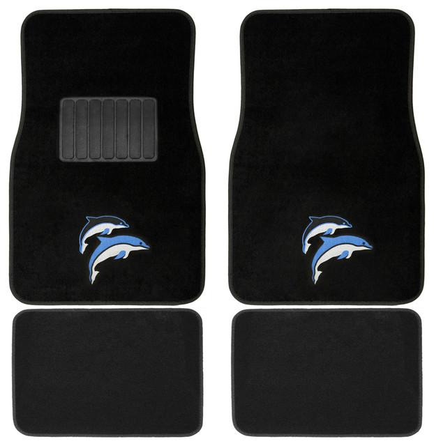 Oxgord Blue/ Purple Dolphin 4-piece Vehicle Floor Mat Set contemporary-bath-mats