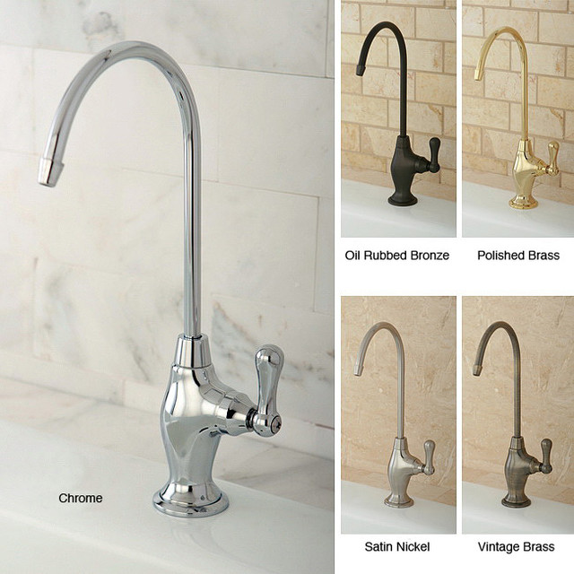 Single Handle Brass Water Filter Faucet Contemporary Kitchen Faucets By