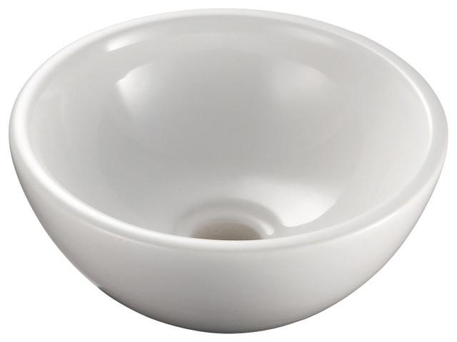 "Acquaio 53698 Ceramic Sink 10.6"" contemporary-bathroom-sinks"