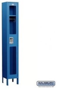 See-Through Metal Locker - Single Tier - 1 Wide - 6 Feet High - 18 Inches Deep modern-storage-cabinets