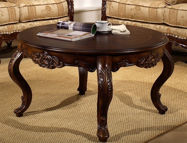 homey design hand carved coffee table hd 203. Black Bedroom Furniture Sets. Home Design Ideas