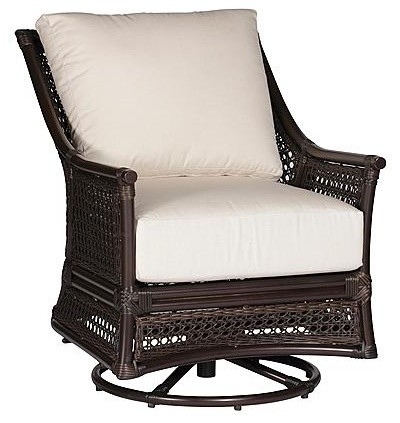 Kipling Swivel Outdoor Glider Outdoor Lounge Chair with Cushions - Frontgate, Pa traditional-outdoor-chaise-lounges