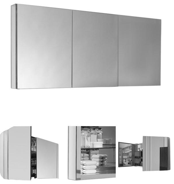 fresca 60 wide bathroom medicine cabinet modern medicine cabinets