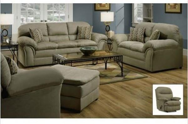 simmons upholstery chickasaw 4 piece living room set 6150slco