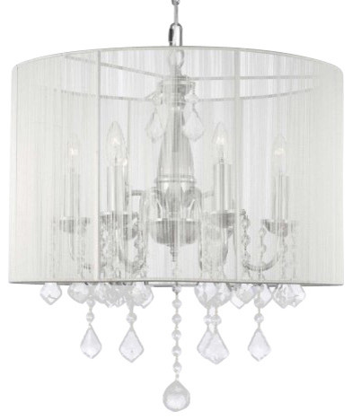 Crystal Chandelier With Shade Swag Plug In Chandelier
