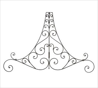 Iron Scrollwork traditional-decorative-pillows