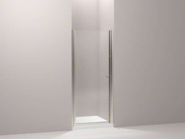 "KOHLER Fluence(R) pivot shower door, 65-1/2"" H x 30 - 31-1/2"" W, with 1/4"" thick contemporary-showers"