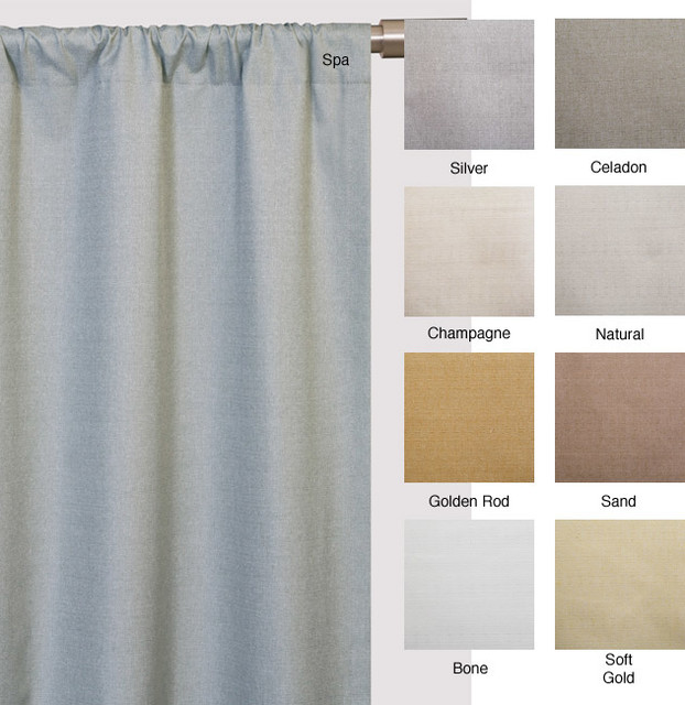 Trilogy Rod Pocket 96-Inch Casual Curtain Panel contemporary-curtains