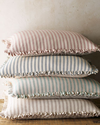 French Laundry Home Bird Bed Linens Ticking-Stripe European Sham - Traditional - Sheets - by Horchow