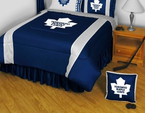 NHL Toronto Maple Leafs Bedding - Sidelines Comforter and Sheet