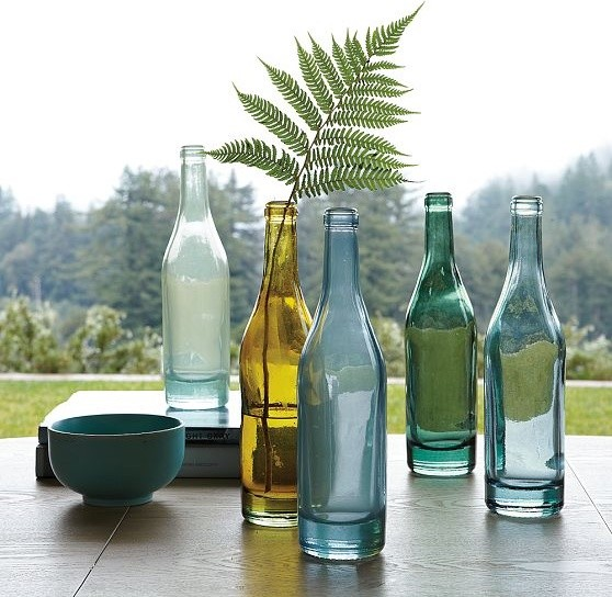 Recycled-Glass Vases modern vases