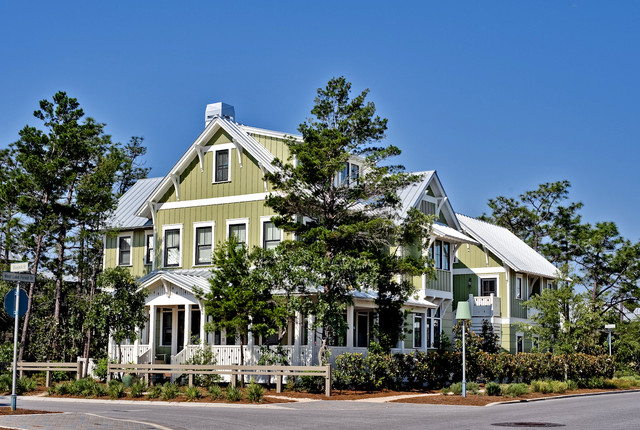 Custom home in Watercolor Florida eclectic 