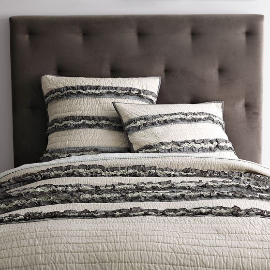 New Diamond Tufted Headboard - modern - headboards - by West Elm