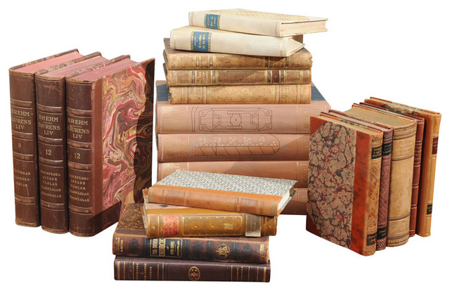 Assorted Leather Bound Books traditional-books