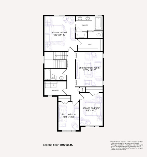 Insignia Showhome in Mahogany traditional-floor-plan