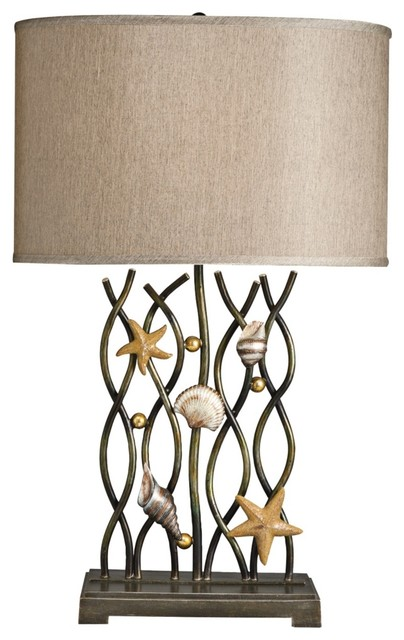 Coastal Kichler Steel Reef Table Lamp - Tropical - Table Lamps - by ...