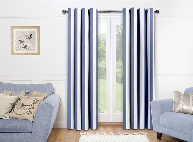 Nautical Living Room Drapes Contemporary By