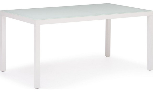 Dining Table In White 703091 Modern Outdoor Dining Tables