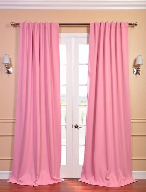 Precious Pink Blackout Curtain Contemporary Curtains