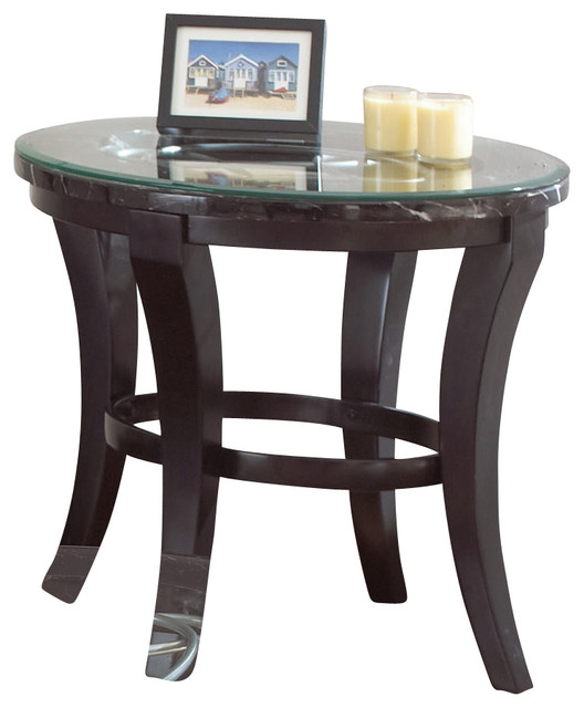 Steve Silver Cayman 28x24 End Table w/ 8mm Tempered Glass contemporary-side-tables-and-end-tables