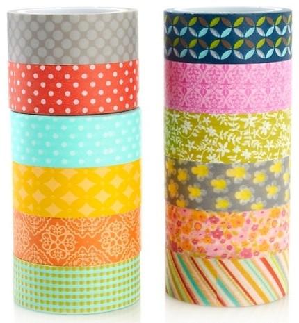 Inspired Inc. Pretty Little Washi Tape Kit contemporary-desk-accessories