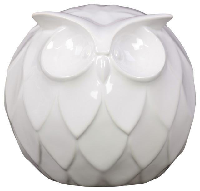 Ceramic Owl Decoration contemporary-holiday-outdoor-decorations