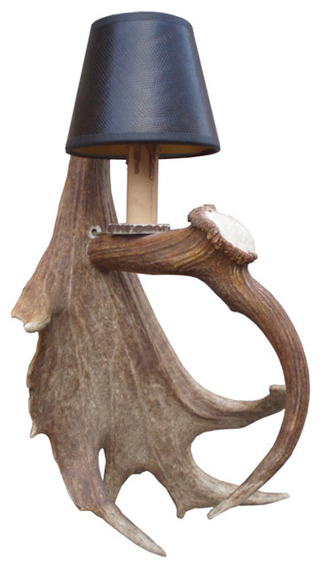 Fight Me Antler Wall Sconce Farmhouse Wall Sconces other metro by The