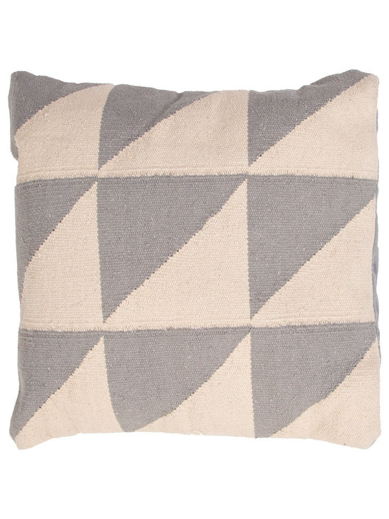 Jaipur - CORSICA Pillow, Slate Set of 2 - Funky range of pillows in poly dupione use rich jewel tones expressed in a highly textural and fun way. Perfect for a touch of retro glamour in your home.