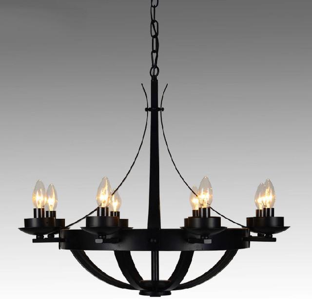 Modern Iron Chandeliers: Post Modern Iron 8 lights Chandelier - Contemporary - Chandeliers,Lighting