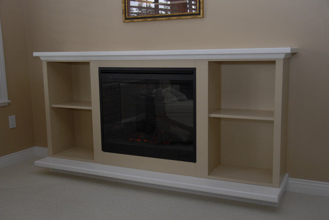 Fireplace enclosures eclectic-indoor-fireplaces