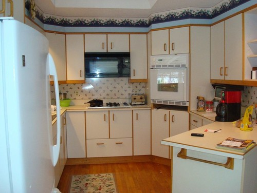 Help! Hate these cabinets but can't afford to replace at this point
