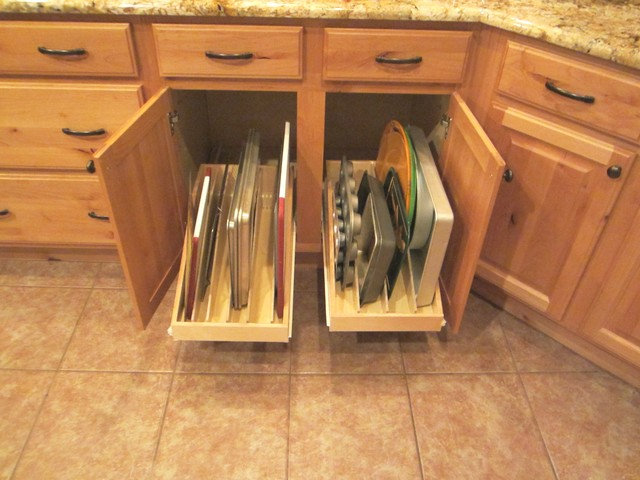 Pan Lid/Cooking Sheet Organizer Pull Out Shelves by Slideoutshelvesllc.com - Traditional ...